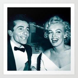 Al Martino and Marilyn Monroe Art Print