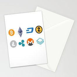 Cryptocurrencies Stationery Cards