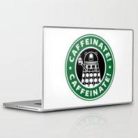 dalek Laptop & iPad Skins featuring Dalek Caffeinate by KittenKirby