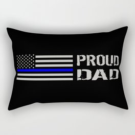 Police: Proud Dad (Thin Blue Line) Rectangular Pillow