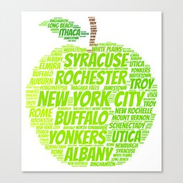 New York State Apple Canvas Print