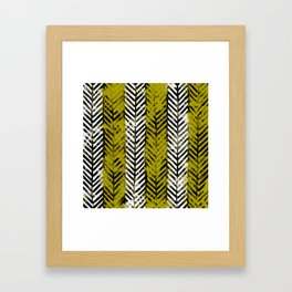 Yellow Herringbone Framed Art Print