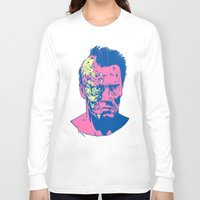 terminator Long Sleeve T-shirts featuring Terminator (neon) by Liam Brazier