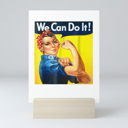 Ladies We Can Do It Rosie The Riveter Girl Power Unisex Tee Mini Art Print