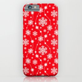 Christmas Red Snowflake Pattern iPhone Case