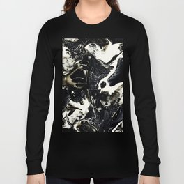 Crazy Lace Agate 3 -Black and White -Grunge Long Sleeve T-shirt