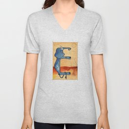 Animal's Alphabet - E for 'Elefante' Unisex V-Neck