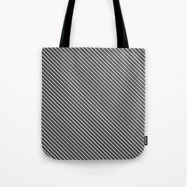 Dark Shadow Stripe Tote Bag