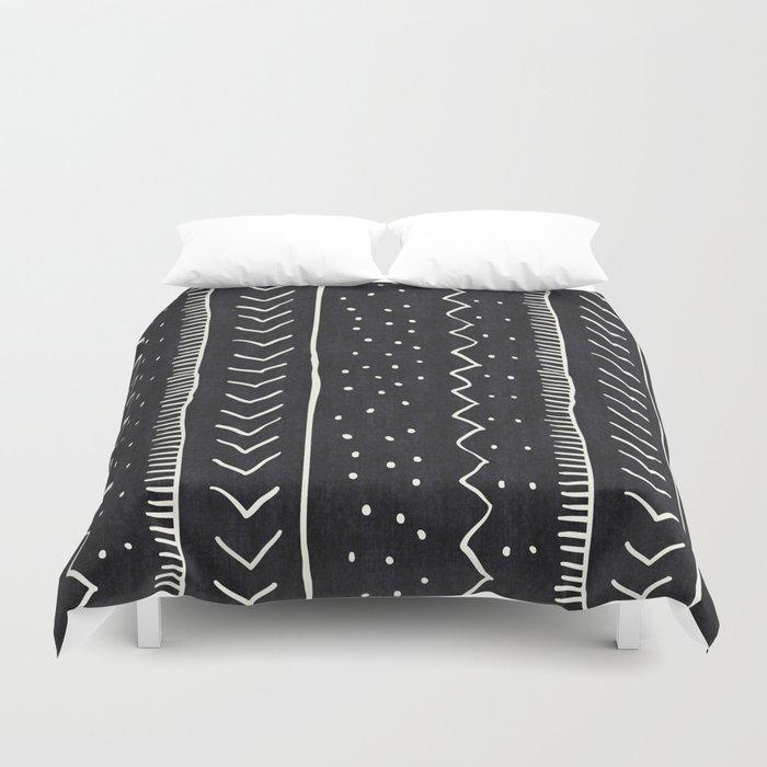 Moroccan Stripe in Black and White Bettbezug