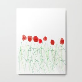 Poppy men Metal Print