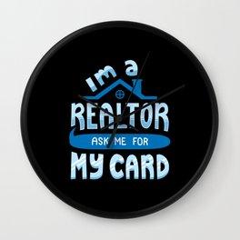 I'm A Realtor Wall Clock