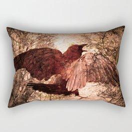 Crow Speach Rectangular Pillow