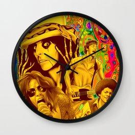 The Seventies 1970's Alice Cooper, Jackson, Springsteen, Aerosmith Wall Clock
