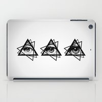 new order iPad Cases featuring Eye New World Order by glwadys