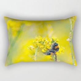 Bee Happy in Yellow Rectangular Pillow