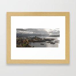 Kelowna Cityscape Framed Art Print