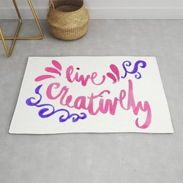 Live Creatively - Pink and Blue Palette Rug