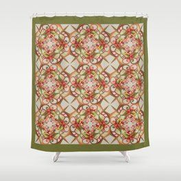 Thanksgiving Tiled - Fall Colors Shower Curtain