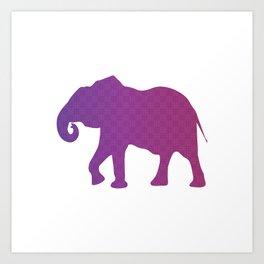 The Purple Elephant Art Print