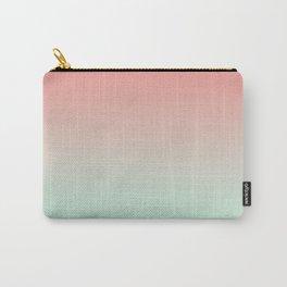 LAST FLIGHT - Minimal Plain Soft Mood Color Blend Prints Carry-All Pouch