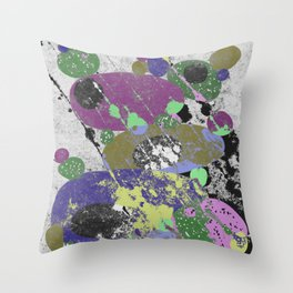 Stack Em Up! - Abstract, textured, pastel coloured artwork Throw Pillow