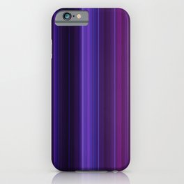 Abstract mixed stripes Purle Dark iPhone Case