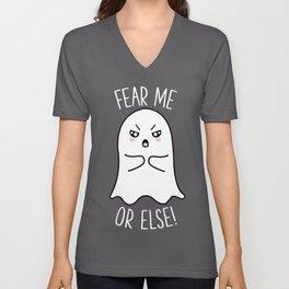 Fear Me Or Else Cute Funny Kawaii Halloween Gift Unisex V-Neck