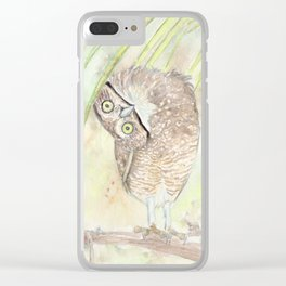 "Watercolor Painting of Picture ""Vizcachera Owl"" Clear iPhone Case"