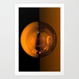 light, glass and colors -3- Art Print