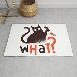 Murder Cat Funny  Rug