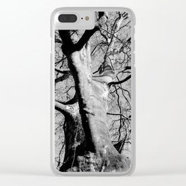 Black and White Tree Clear iPhone Case