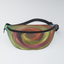 Neon color lights abstract vortex Fanny Pack