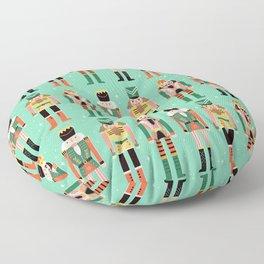 Nutcrackers Green Floor Pillow