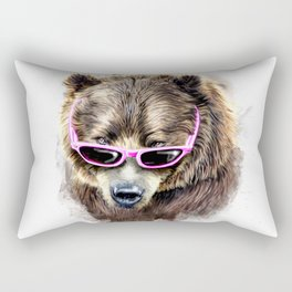 Cool shy bear Rectangular Pillow