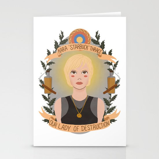 "Kara ""Starbuck"" Thrace Stationery Cards"