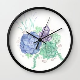 Botanical Succulents Wall Clock