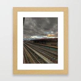NY Tracks Framed Art Print