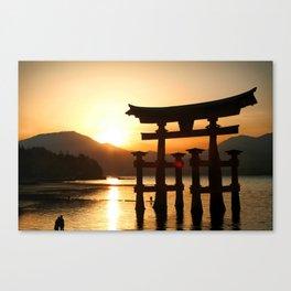 Itsukushima Shrine on Miyajima, Japan Canvas Print