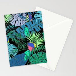 TROPICAL GARDEN B (abstract) Stationery Cards