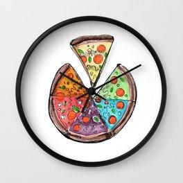 rainbow pizza Wall Clock