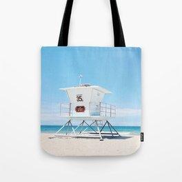 Lifeguard tower Carlsbad 35 Tote Bag