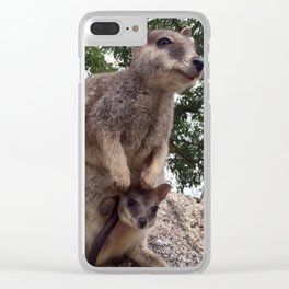 Australian wallaby baby Clear iPhone Case