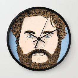 Zach Galifianakis Wall Clock