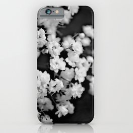 Baby's breath black and white iPhone Case