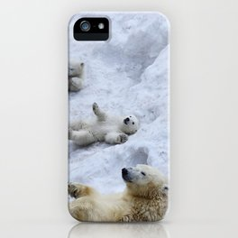 dc33ff508f Polar bear mom with twins. iPhone Case