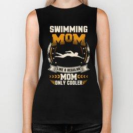 Swimming Mom Like A Regular Mom Only Cooler Biker Tank