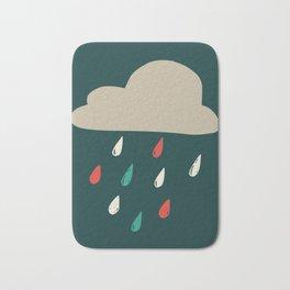 Cloudy with a chance of rainfall Bath Mat