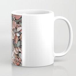 Gray, Pink and Salmon Beach Stones Coffee Mug