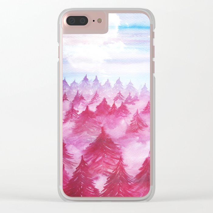 Fade Away W. Clear iPhone Case