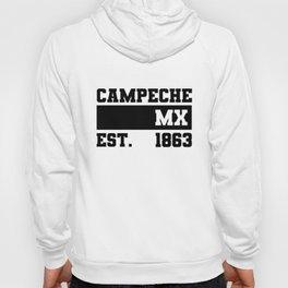 Campeche Mexico Est. - 1863 Vintage Retro Distressed Hoody